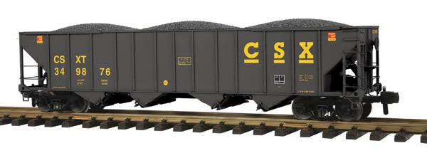 MTH 70-75041 G Scale CSX Railking 4 Bay Hopper with Metal Wheels #349876