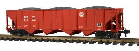 MTH 70-75045 G Scale BNSF Railking 4 Bay Metal Wheels Hopper #616222
