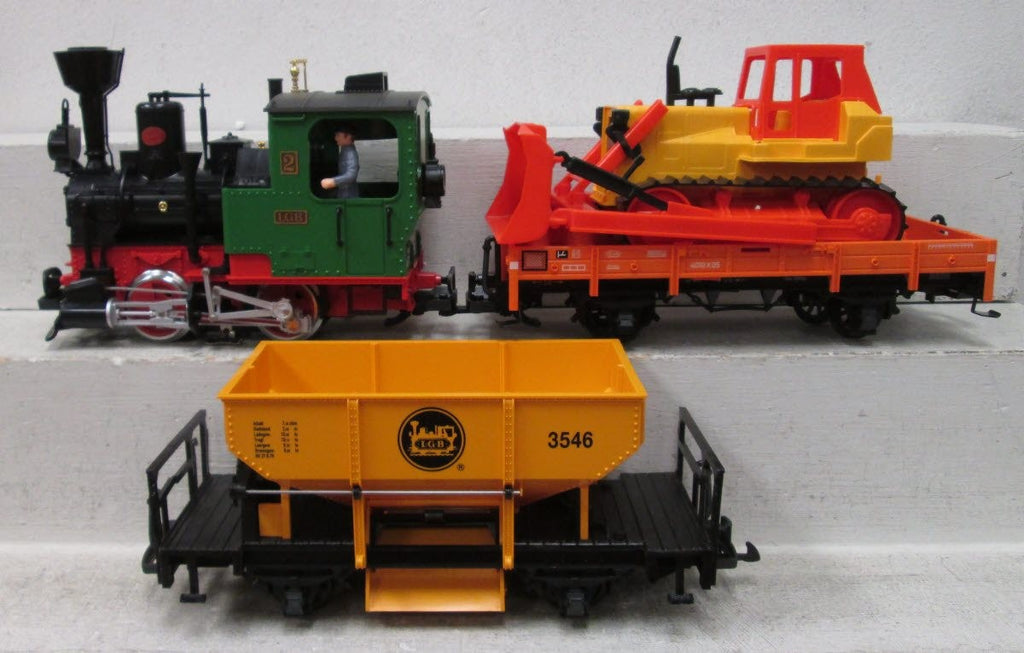 LGB 72403 Work Train G Gauge Steam Starter Train Set