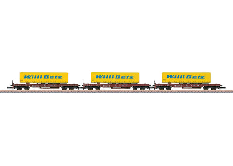 Marklin 82289 Z Deep Well Flat Car Set (3)
