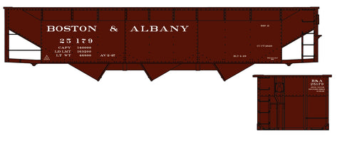 Accurail 7562 HO Boston and Albany 70-Ton Offset Triple Hopper Kit #25179