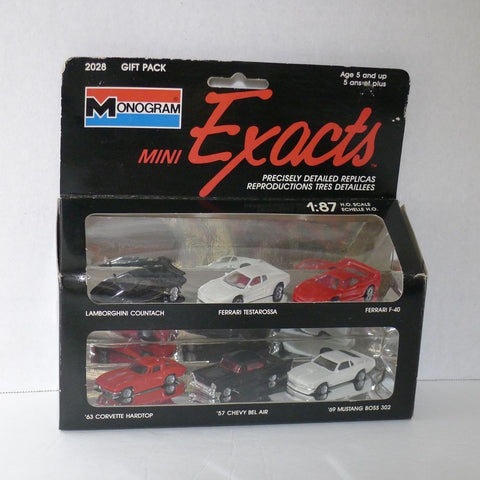 Monogram 2028 Gift Pack Mini Exacts HO Vehicles (Set of 6)