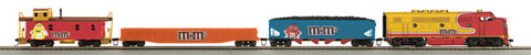 MTH 81-4004-0 Mars - M&M HO Scale F-3 Diesel R-T-R Deluxe Freight Train Set