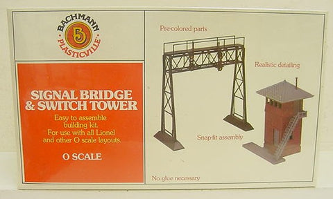 Plasticville 1951 Signal Bridge and Switch Tower Building Kit