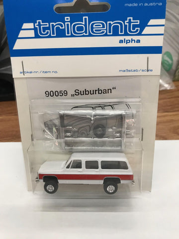 Trident Miniatures 90059 HO Suburban 2-tone White w Red Trim