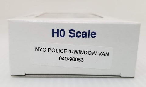 E-R Models 040-90953 HO 1:87 NYC Police 1-Window Van