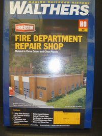 Walthers 933-3767 HO Fire Department Repair Shop Building Kit