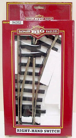 Bachmann 94352 G Steel Right Hand Manual Switch Turnout
