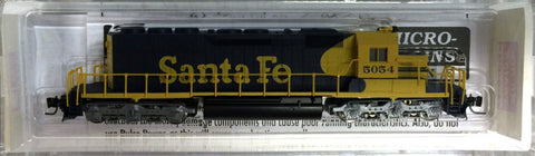 MicroTrains 97001091 Z Scale Santa Fe SD40-2 Powered Diesel Locomotive #5054
