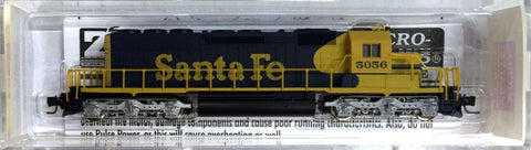 MicroTrains 97001092 Z Scale Santa Fe SD40-2 Powered Diesel Locomotive #5056