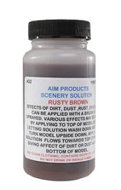 AIM 975 HO Scenery Solutions Rusty Brown 4oz