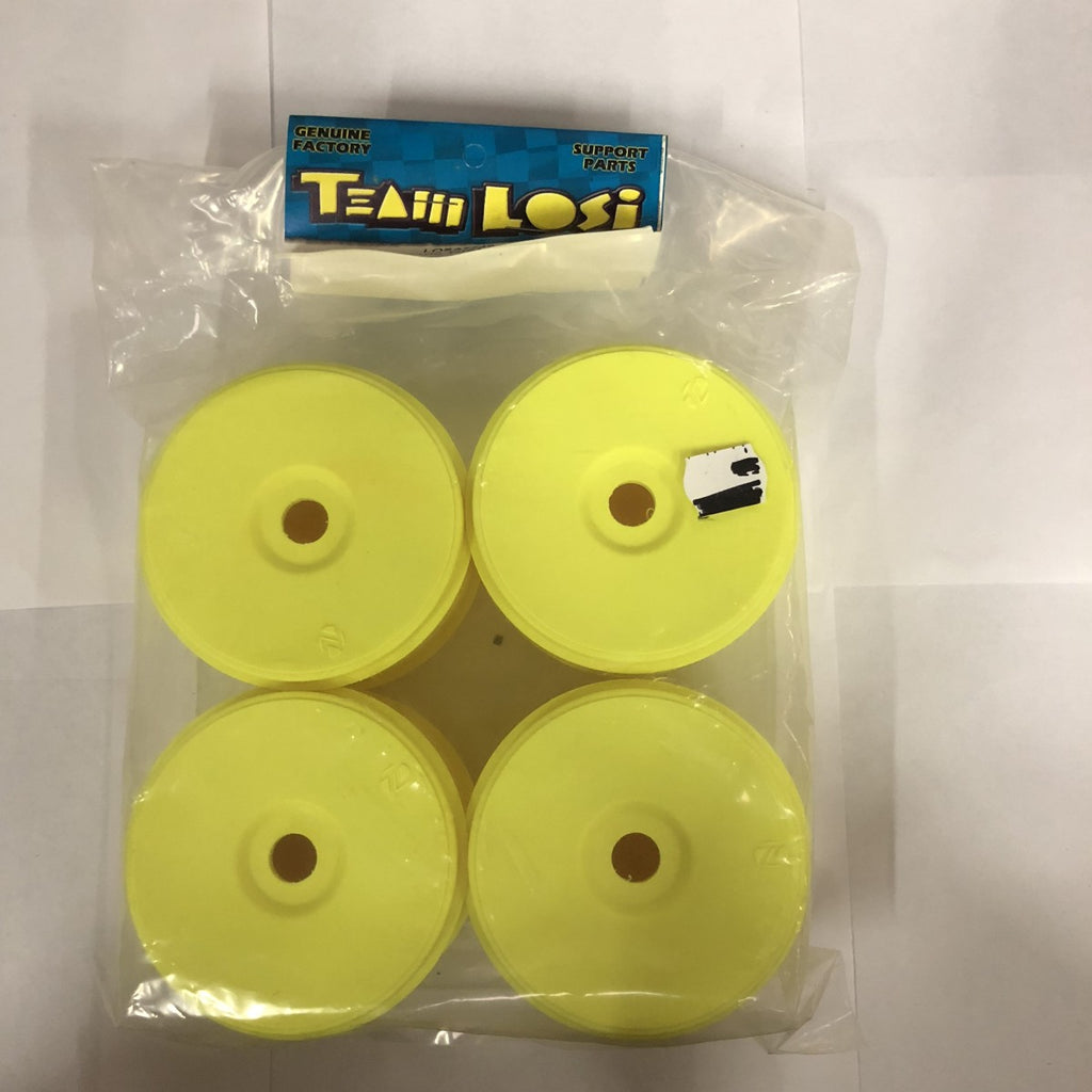 Losi A7749 1/8 Buggy Wide Dish Wheel, Yellow (4)