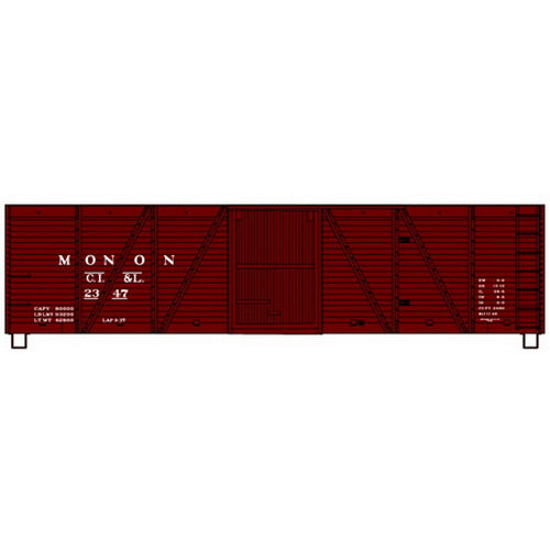 Accurail 7018 HO KIT 40' Single Sheathed Box, Monon