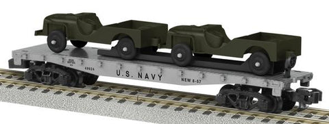 AF 6-48580 S Scale US Navy Flatcar w/Military Vehicles