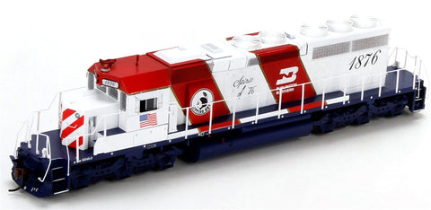 Athearn 98370 HO Burlington Northern (Bicentennial) SD40-2 w/DCC & Sound #1876