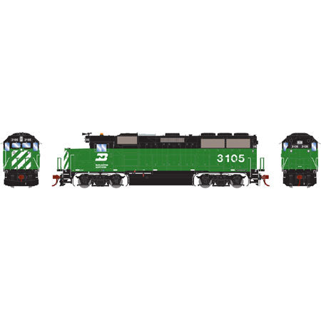 Athearn G65792 HO GP50 w/DCC & Sound, BN/Green & Black #3105