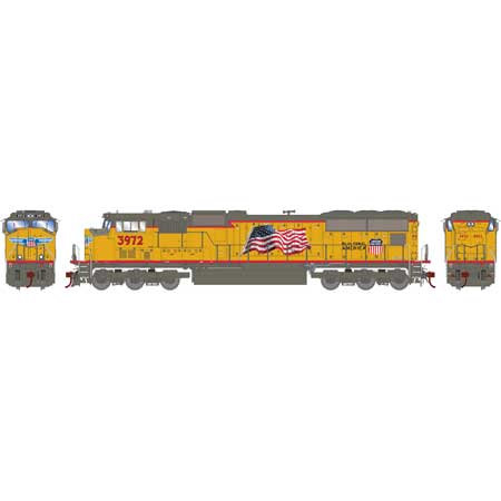 Athearn G69514 HO Union Pacific SD70M Diesel Locomotive #3972