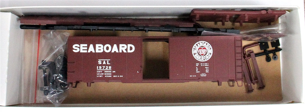 Atlas 20003798 HO Seaboard Air Line 1937 AAR 40' Box Car Kit #19728