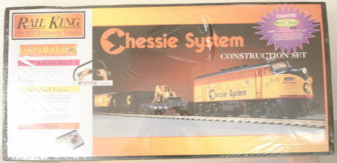 MTH 30-4016-1 Chessie Construction Train Set LN/Box