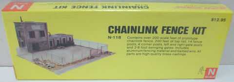 Alloy Forms N-118 N Scale Chainlink Fence Kit