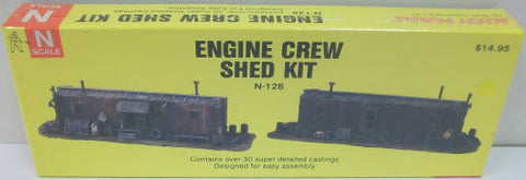 Alloy Forms N-128 N Scale Engine Crew Shed