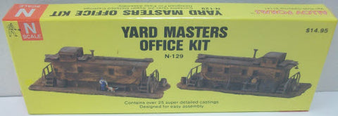 Alloy Forms N-129 N Scale Yard Masters Office Kit
