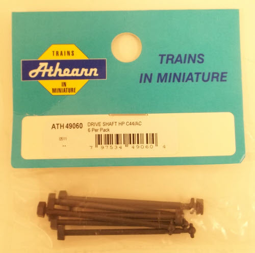 "Athearn 49060 HO HP C44/AC Drive Shaft 1.76"" (6)"
