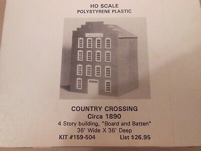 BH Models 159-504 HO 4 Story Building with Board & Batten Pattern Building Kit
