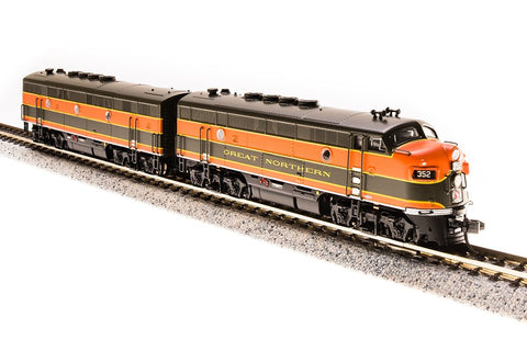 Broadway Limited 3482 N Great Northern EMD F3 A/B Diesel Locomotive #352A/352B