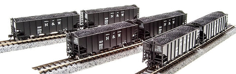 "Broadway Limited 3644 N Norfolk & Western H2a Hopper 17"" Pack D (6)"