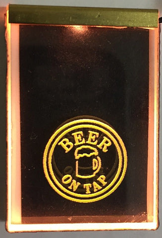 "Miniatronics 75-011-01 Large HO / O Scale ""Beer on Tap"" Neon-Like Sign"