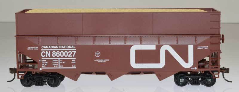 Bowser 57016 HO Canadian National 70-Ton 3-Bay Offset-Side Hopper #860078