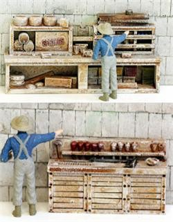 Model Tech Studios D1172P N Scale Old Time Workbenches