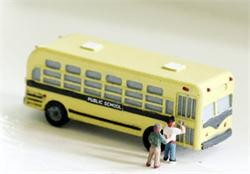 Model Tech Studios JN1096 N 1950's-60's School Bus Kit Style #2