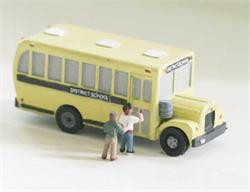 Model Tech Studios JN1095P N Scale 1950's Scool Bus Kit Style #1