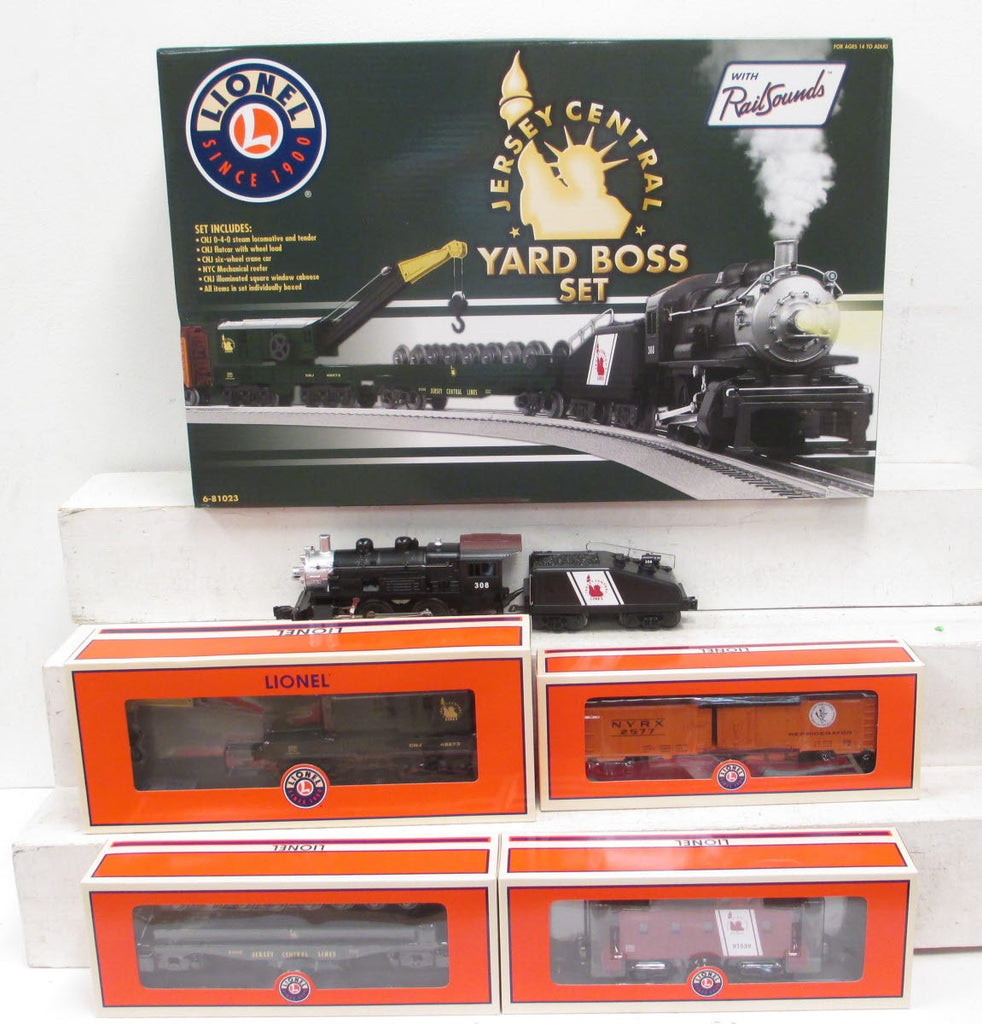 Lionel 6-81023 Central New Jersey Yard Boss O Gauge Steam Freight Train Set