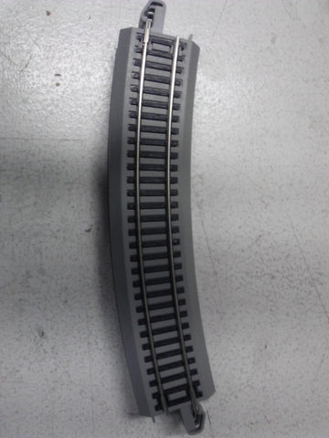 "Bachmann 44483 HO 22"" Radius Curved Nickel Silver EZ Track with Gray Roadbed"