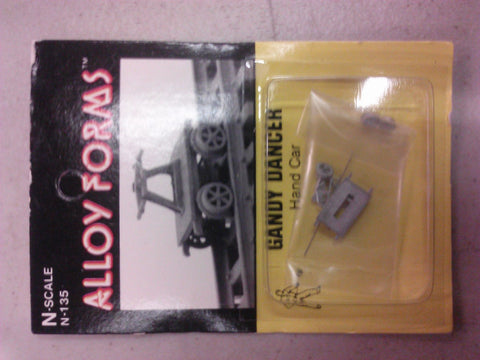 Alloy Forms 135 N Gandy Dancer Hand Car Kit Unpainted