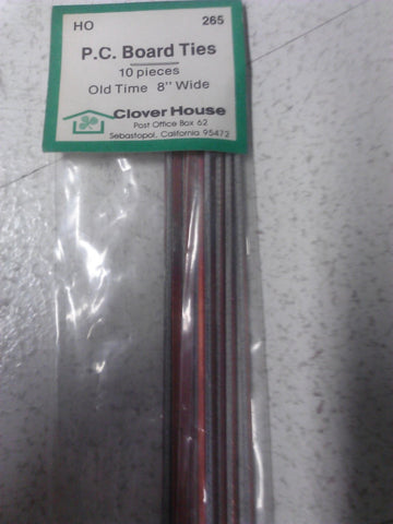 Clover House 265 HO Scale P.C. Board Ties