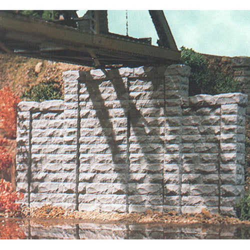 Chooch Enterprises 9800 HO Cut Stone Stepped Wall 2-Piece Set