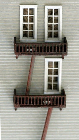 Model Tech Studios 1149 N Scale Fire Escapes Kit