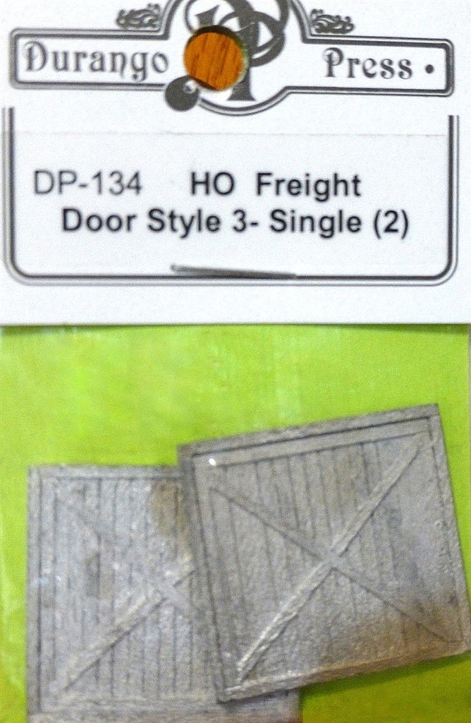 Durango Press 134 HO Freight Door Style 3, Single (2)