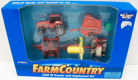 Ertl 271 Farm Country Case IH Tractor & Implement Set