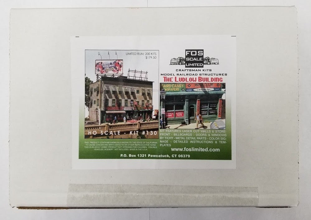 FOS Scale Limited 130 HO Scale The Ludlow Building Kit – Trainz