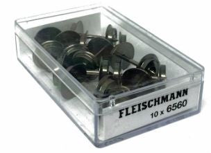 Fleischmann 6560 HO Scale Metal Wheelset (Pack of 10)