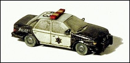 GHQ 51013 N Scale Highway Patrol Police Car Kit