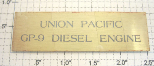 Lionel 18553-99 Union Pacific GP9 Diesel Loco Display Case Nameplate