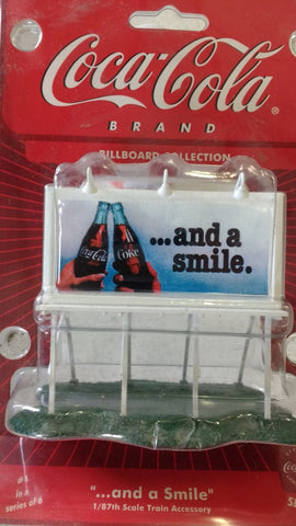 "Coca-Cola 8259 ""and a smile"" HO Billboard"