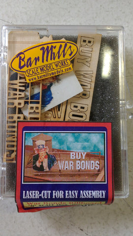 Bar Mills 0125 N Scale War Bonds Billboard Kit