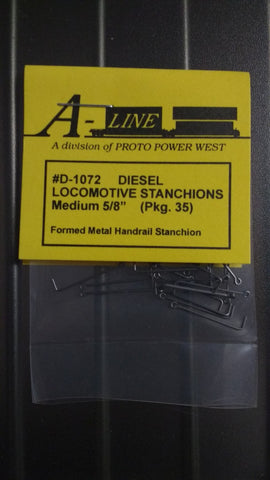 "A-Line D1072 HO Formed-Metal Handrail Stanchions Medium 5/8"" 1.6cm (35)"